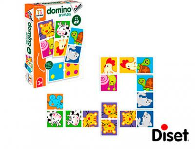 Juego diset educativo domino animals
