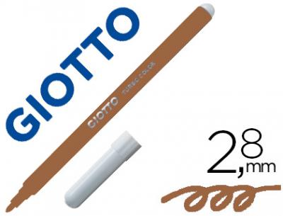 Rotulador giotto turbo color lavable con punta bloqueada unicolor marron