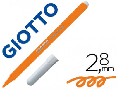 Rotulador giotto turbo color lavable con punta bloqueada unicolor naranja