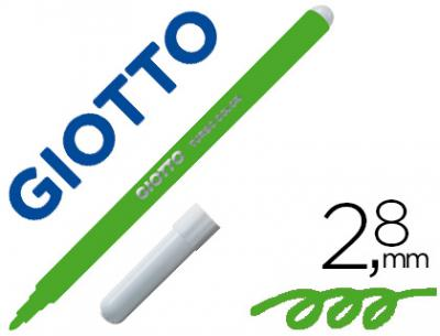Rotulador giotto turbo color lavable con punta bloqueada unicolor verde