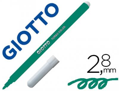 Rotulador giotto turbo color lavable con punta bloqueada unicolor verde oscuro
