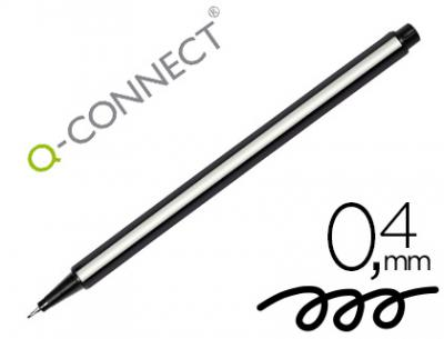 Rotulador q-connect punta de fibra fine negro 0.4 mm