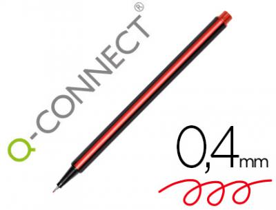 Rotulador q-connect punta de fibra fine rojo 0.4 mm