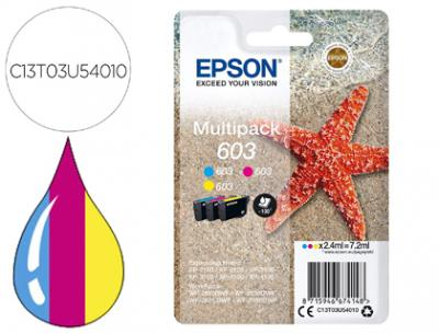 Ink-jet epson 603 xp-2100 / 2105 / 3100 / 4100 / wf-2810 / 2830 / 2835 / 2850 multipack 3 colores amarillo