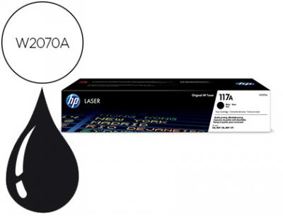 Toner hp 117a laser color 150a / 150nw / 178nw / 178nwg / 179fnw negro 1000 paginas