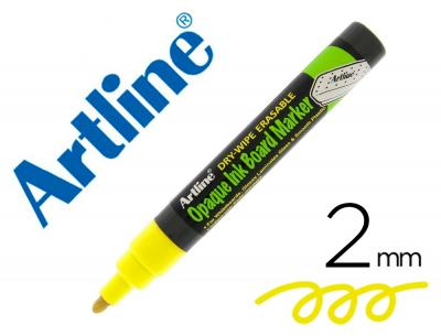 Rotulador artline pizarra epd-4 color amarillo fluorescente opaque ink board punta redonda 2 mm