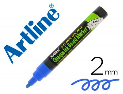 Rotulador artline pizarra epd-4 color azul opaque ink board punta redonda 2 mm