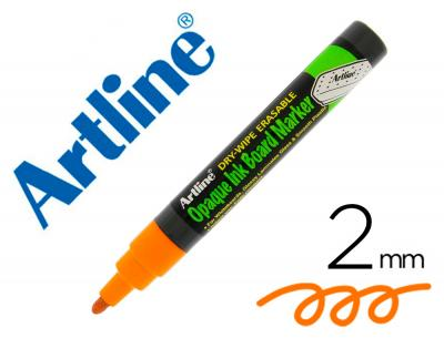 Rotulador artline pizarra epd-4 color naranja fluorescente opaque ink board punta redonda 2 mm