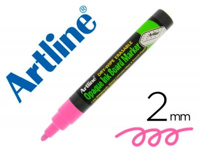 Rotulador artline pizarra epd-4 color rosa fluorescente opaque ink board punta redonda 2 mm