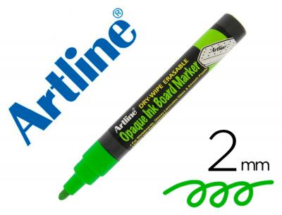 Rotulador artline pizarra epd-4 color verde fluorescente opaque ink board punta redonda 2 mm