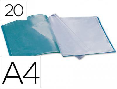 Liderpapel Carpeta  Escaparate 47490 30 Fundas Polipropileno Traslucida Din A4 Rojo Frosty