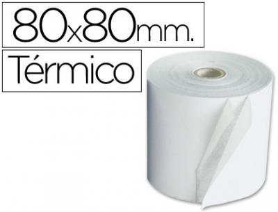 Rollo sumadora termico q-connect 80 mm ancho x 80 mm diametro sin bisfenol a