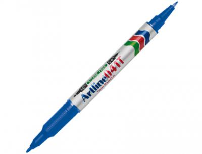 Rotulador artline marcador permanente ek-041t azul -doble punta 0.4 y 1.0 mm