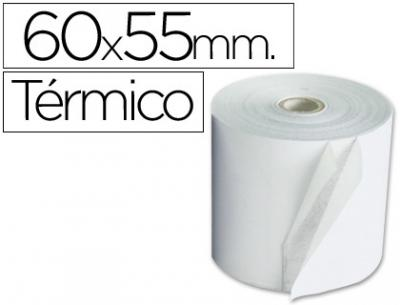 Rollo sumadora termico 60 mm ancho x 55 mm diametro sin bisfenol a