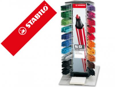 Rotulador stabilo acuarelable pen 68 counter expositor 240 rotuladores surtidos