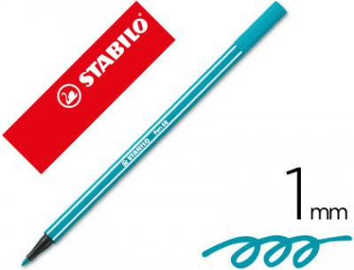 Rotulador stabilo acuarelable pen 68 turquesa 1 mm