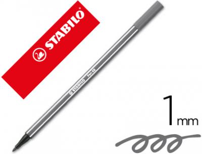 Rotulador stabilo acuarelable pen 68 gris azulado medio 1 mm