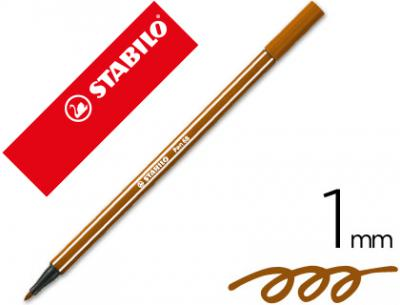 Rotulador stabilo acuarelable pen 68 marron 1 mm