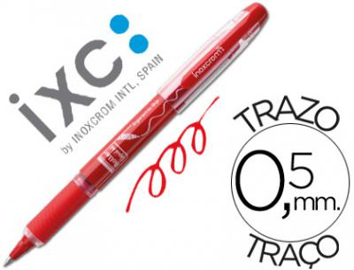 Rotulador roller inoxcrom free ink campus con grip rojo 0,5 mm
