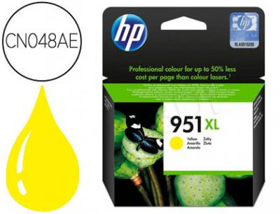 Ink-jet hp 951xl amarillo cn048ae capacidad 1500 pag