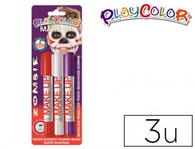 Barra de maquillaje playcolor make up zombie blister de 3 unidades