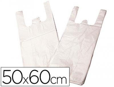 Bolsa plastico camiseta biodegradable 50 x 60