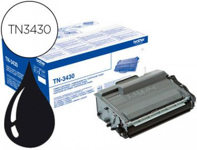 Toner brother tn-3430 dcp-l5500dn / dcp-l6600dw / hl-l5000d / mfc-l5700 negro 3000 pag