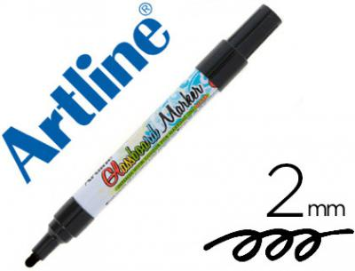 Rotulador artline glass marker especial cristal borrable en seco o humedo color negro