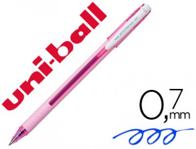 Boligrafo uni-ball roller jetstream sx-101 0,7 mm rosa claro tinta gel azul