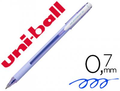 Boligrafo uni-ball roller jetstream sx-101 0,7 mm lavanda tinta gel azul