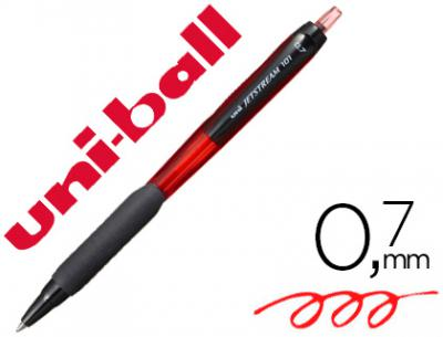 Boligrafo uni-ball jetstream retractil sxn-101 0,7 mm rojo