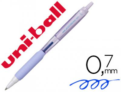 Boligrafo uni-ball jetstream retractil sxn-101 0,7 mm lavanda tinta azul
