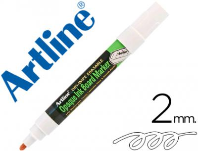 Rotulador artline pizarra epd-4 color blanco opaque ink board punta redonda 2 mm
