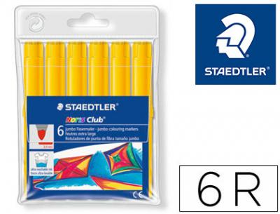 Rotulador staedtler color jumbo trazo 3 mm unicolor amarillo