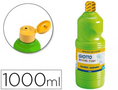 Tempera liquida giotto escolar lavable 1000 ml verde cinabrio