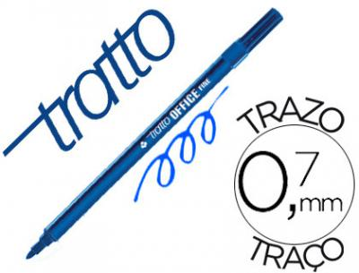 Rotulador tratto office fine punta de fibra trazo 0,7 mm azul