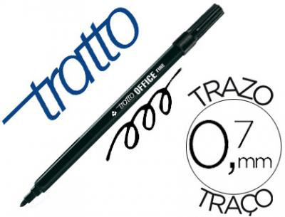 Rotulador tratto office fine punta de fibra trazo 0,7 mm negro