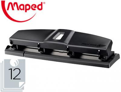 Taladrador maped essentials metal 4 taladros capacidad 12 hojas color negro