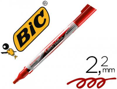 Rotulador bic velleda liquid pocket punta redonda 2,2 mm rojo