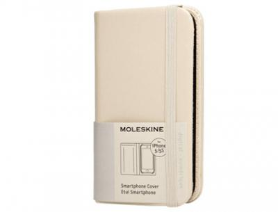 Funda moleskine para iphone 5/5s color beige