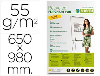 Bloc congreso bi-office papel reciclado 55 grs 650x980 mm