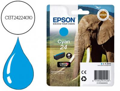 Ink-jet epson 24xp 750 / 850 cian -240 pag-