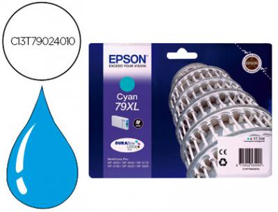 Ink-jet epson 79xl wf 4630 / 4640 / 5110 /-5190 / 5620 / 5690 cian - 2.000 pag-