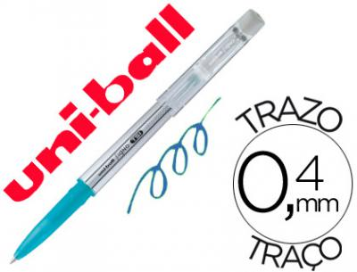 Boligrafo uni-ball roller tsi uf-220 borrable 0,7 mm tinta gel azul claro