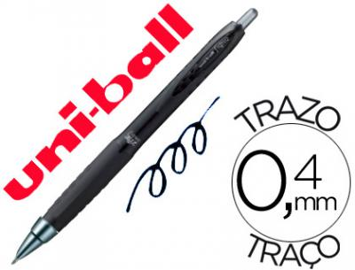 Boligrafo uni-ball roller umn-307 retractil 0,7 mm tinta gel negro
