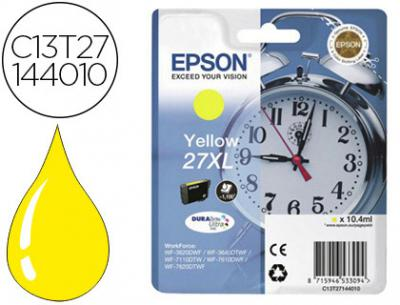 Ink-jet epson 27xl wf 3620 / 7110 / 7610 / 7620 amarillo 1.100 pag