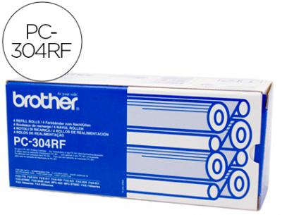 Repuesto fax pc-304rf brother recambio 4 bobinas